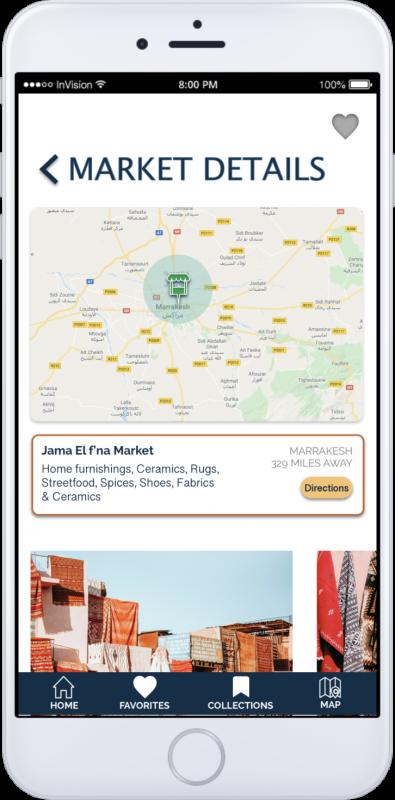 App Screen-Markets details
